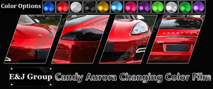 Aurora Candy Film Car Styling Glossy Metallic Glitter Car